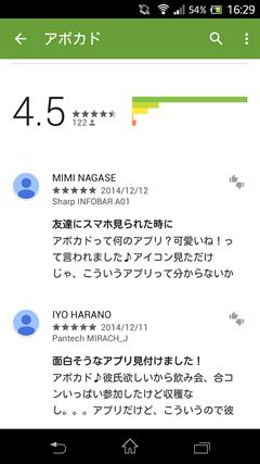 アボカド GooglePlay
