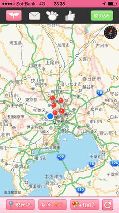 出会えるパンダ マップ表示