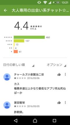 ファーストキス GooglePlayの口コミ