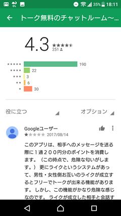 FROOM(フルーム) GooglePlay口コミ