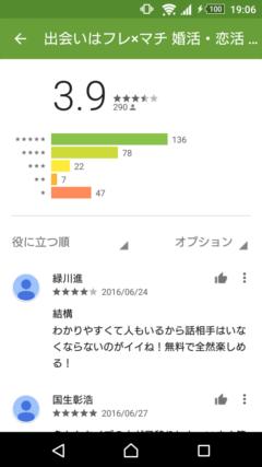 フレ×マチ GooglePlayの口コミ
