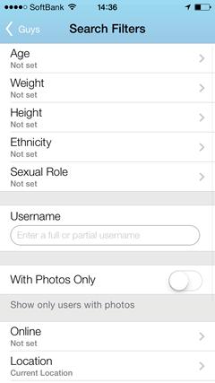 Gay.com 検索機能