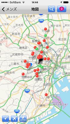 GuySpy マップ表示