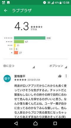 ラブプラザ GooglePlay口コミ