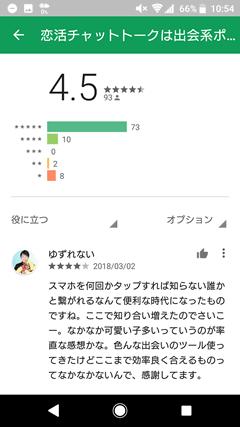 GooglePlayでのポルテに対する評判や口コミ