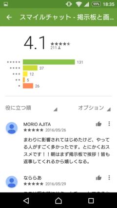 スマイルチャット GooglePlayの口コミ
