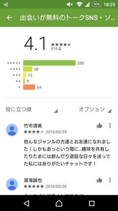 ソクアイ GooglePlay評判