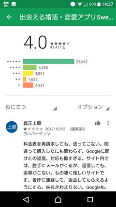 SweetRing(スイートリング) GooglePlay口コミ