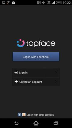 Topface TOPページ