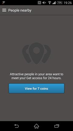 Topface 近場のユーザーを探す