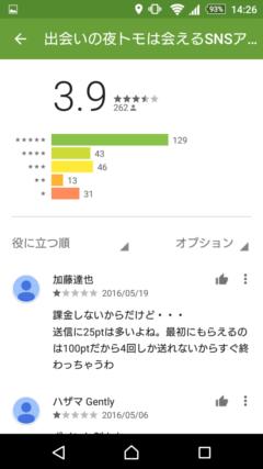夜トモ GooglePlayの口コミ